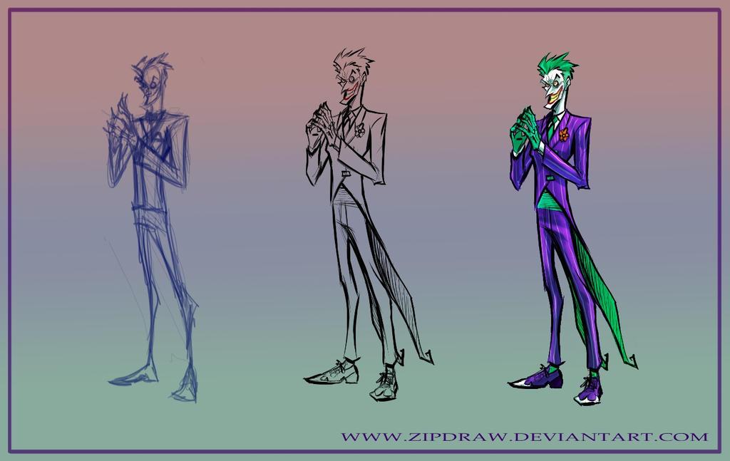 Joker warmup by ZipDraw