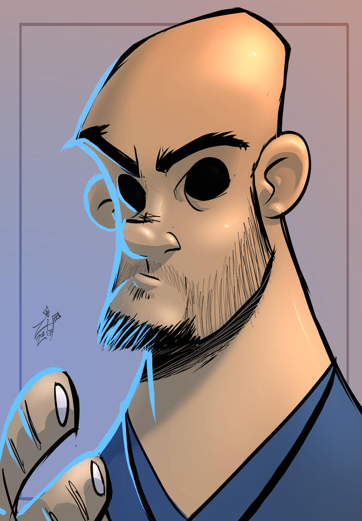 Toon Self Portrait by ZipDraw