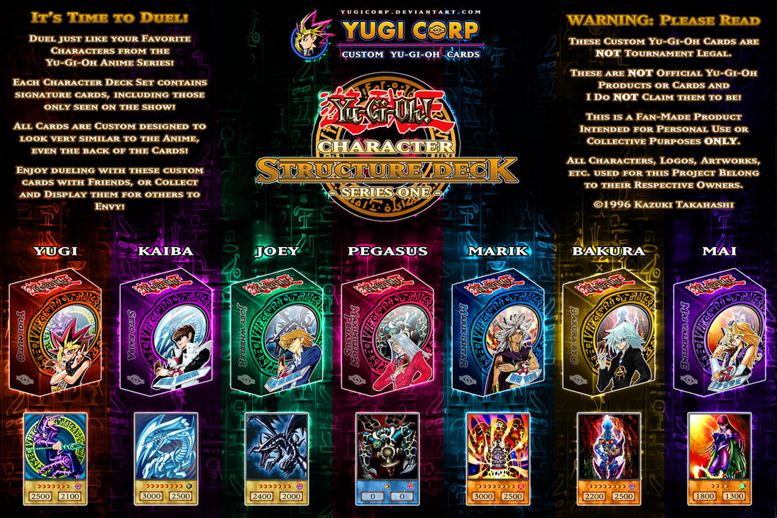 Character Structure Decks Complete Poster Update By