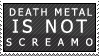 Death Metal X Screamo Stamp by soxadoodle
