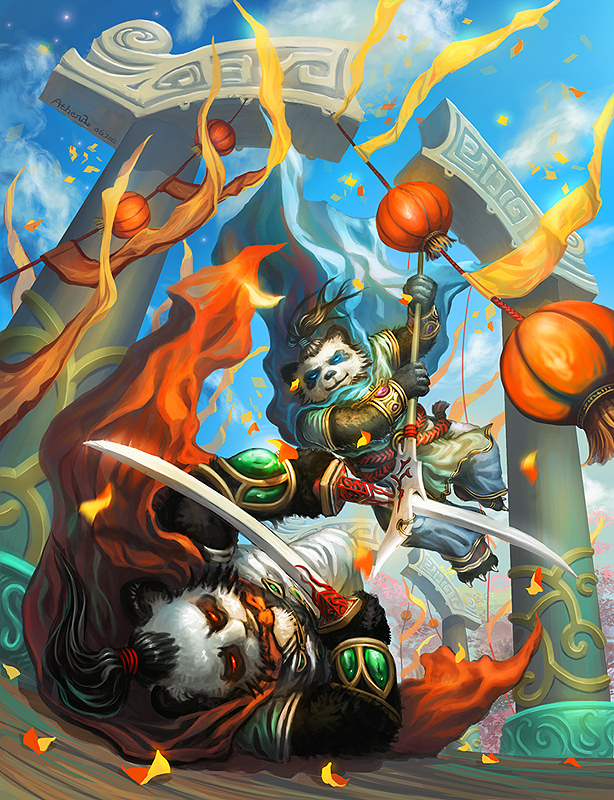 [WOW fanart] Duel by Athena-Erocith