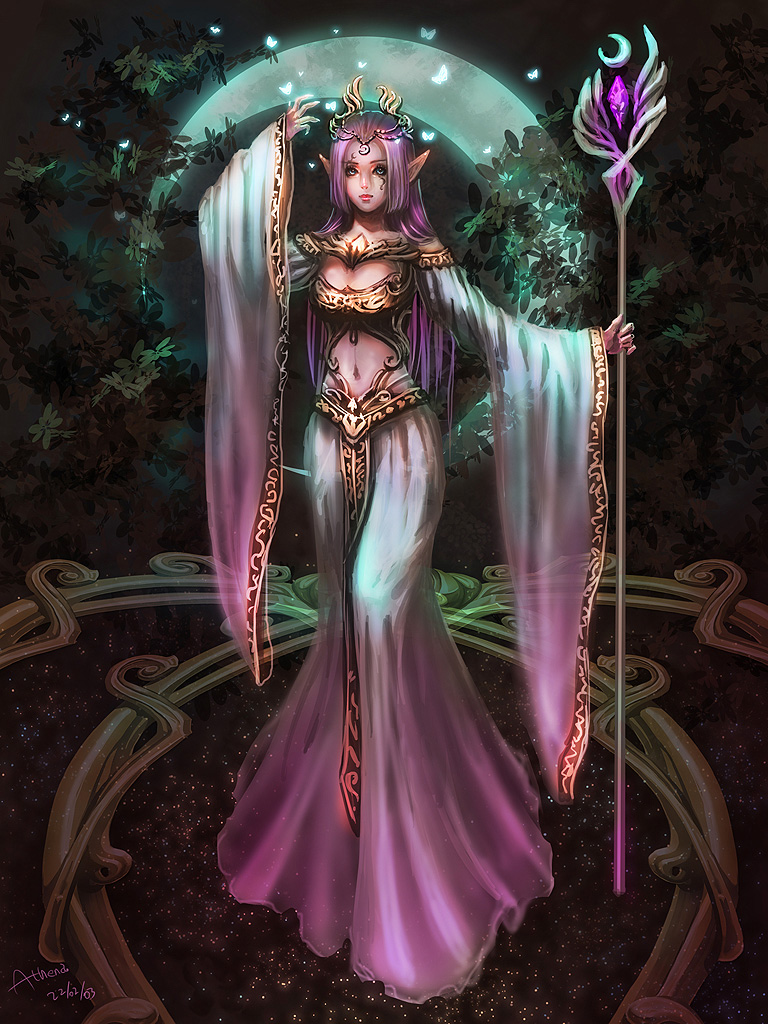 Elven Moon Priestress by Athena-Erocith