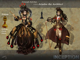[Moviefest] Ariadne the Architect sketches by Athena-Erocith