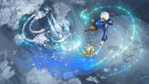 Elsa and Jack Frost~Disney and Dreamworks Unite!