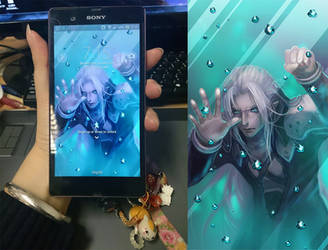 Sephiroth trapped in my phone~ by Athena-Erocith