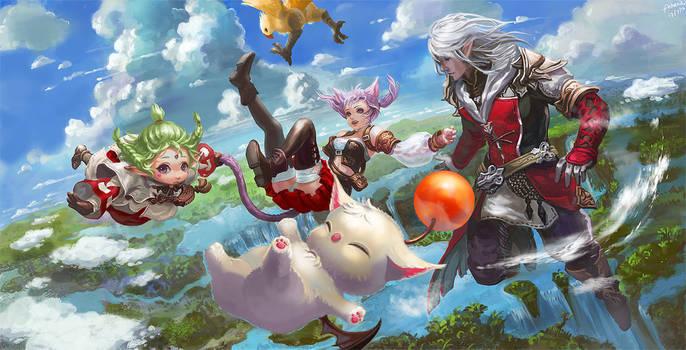 [Final Fantasy XIV] To Eorzea by Athena-Erocith