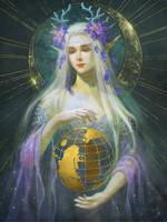 Moon Goddess Elune by Athena-Erocith