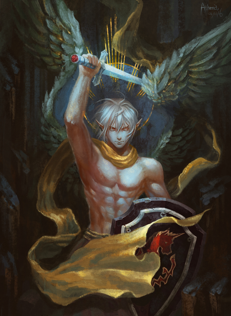 Haurchefant of the Silver Fuller by Athena-Erocith