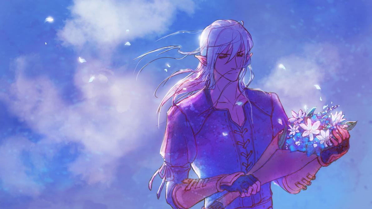 Estinien ~Requiem for Lady Iceheart~ by Athena-Erocith