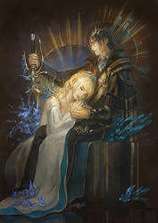 [FFXV]Noctis and Lunafreya by Athena-Erocith