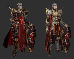 Haurchefant Unicorn armour design sketches