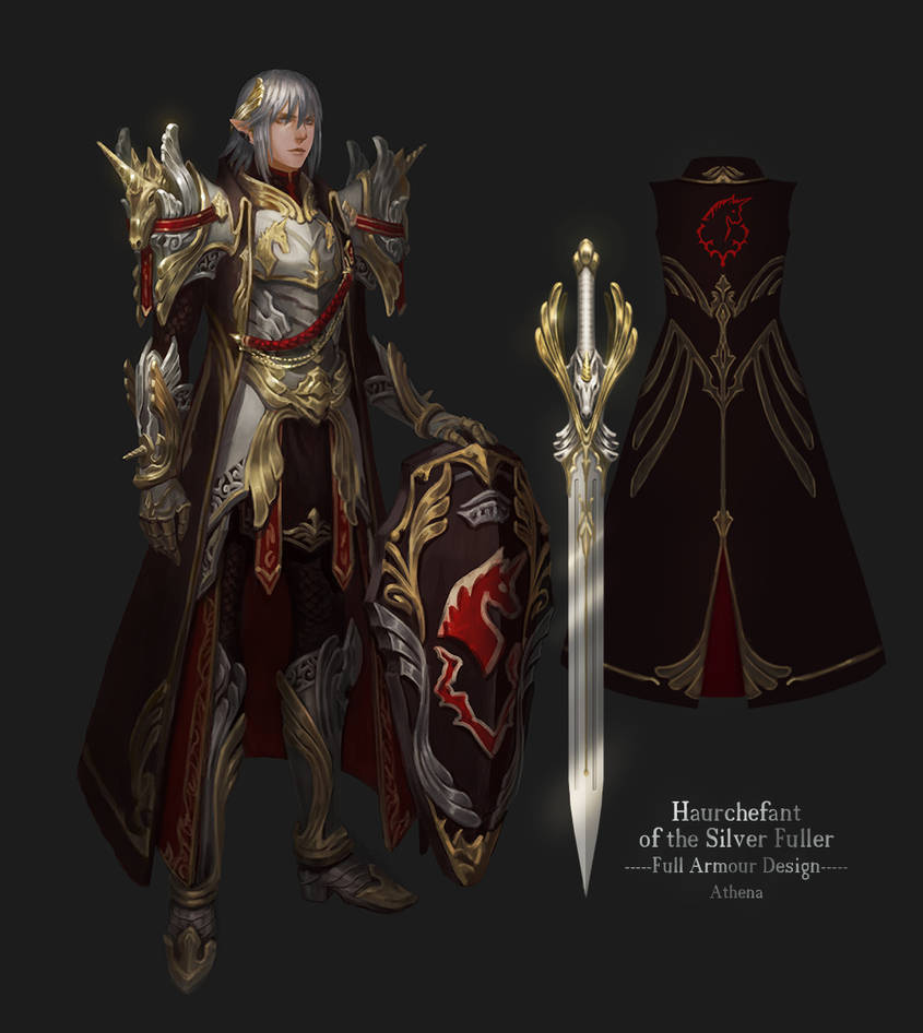 Haurchefant Full Armour Design by Athena-Erocith