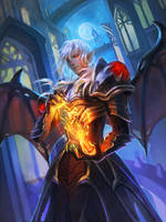 [FFXIV]Hmm...evil Estinien? by Athena-Erocith