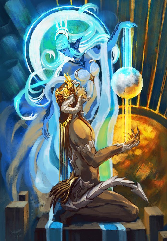 [FFXIV] Azim and Nhaama by Athena-Erocith