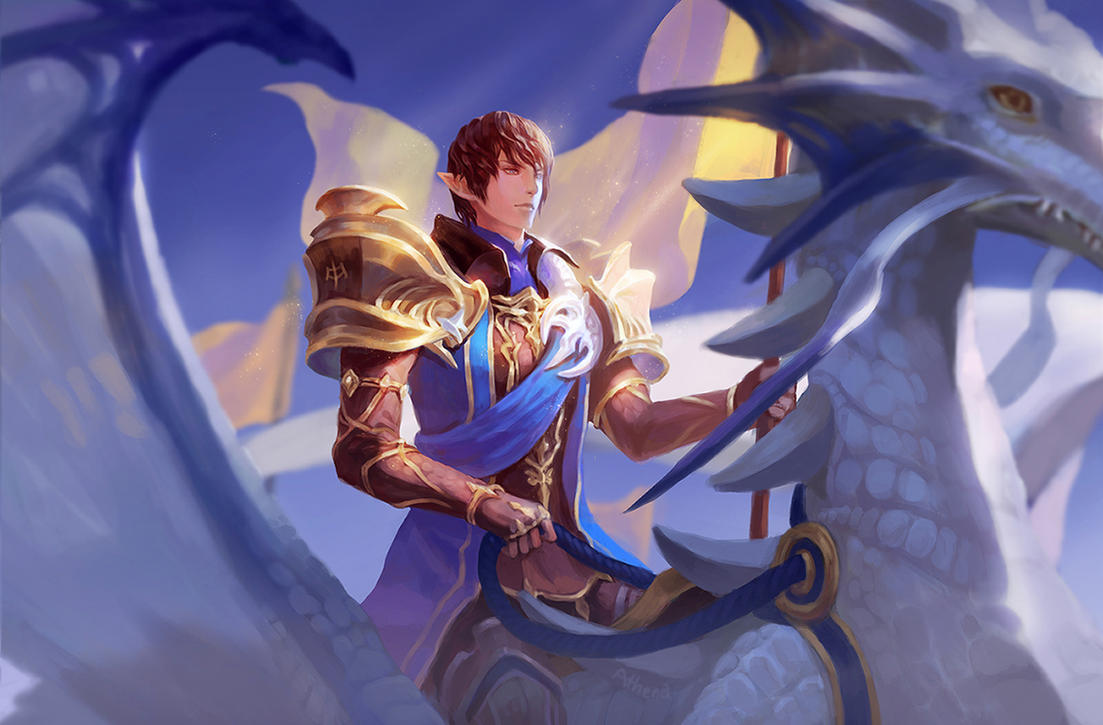 [FFXIV][Aymeric]Azure Dragoon of the New Age by Athena-Erocith