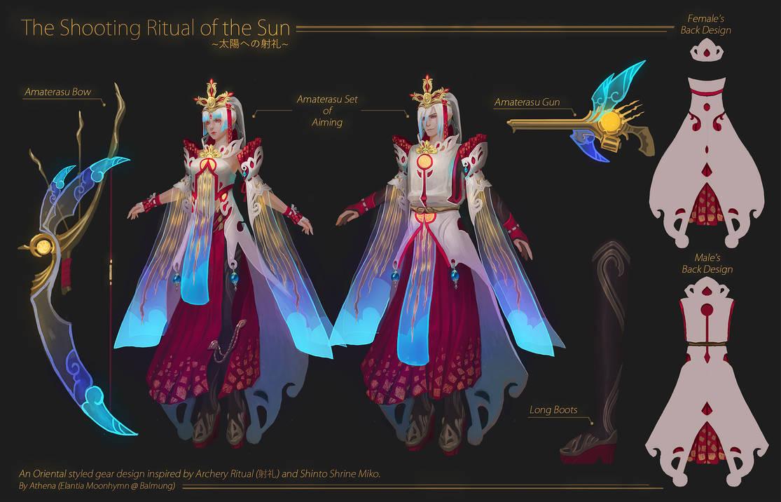 [FFXIV Design Contest]Amaterasu set of Aiming by Athena-Erocith