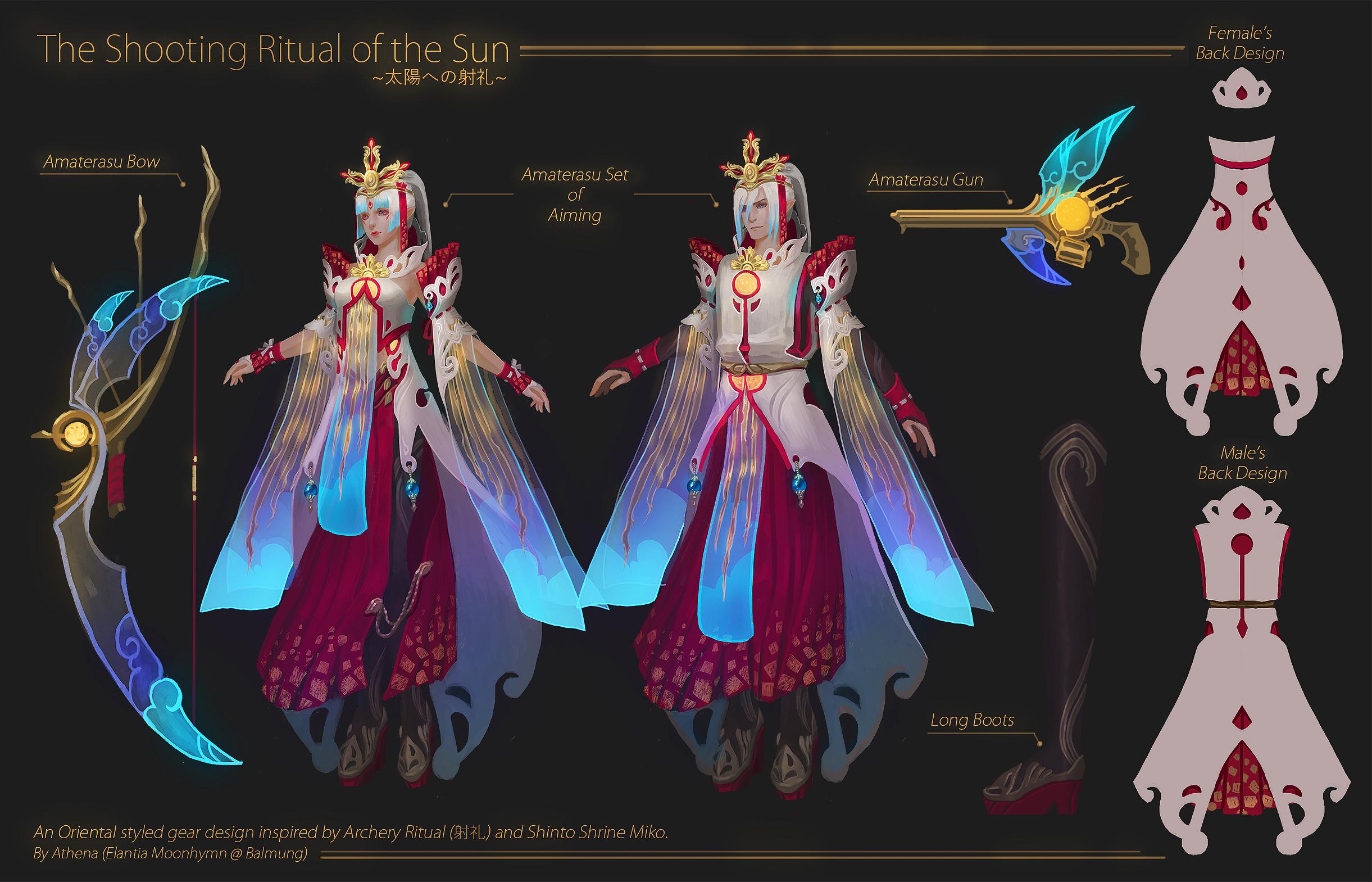 FFXIV Design Contest]Amaterasu set of Aiming by Athena