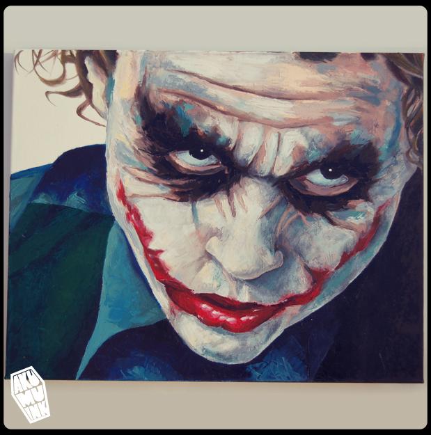 Joker Oil Painting 4 by akumuink