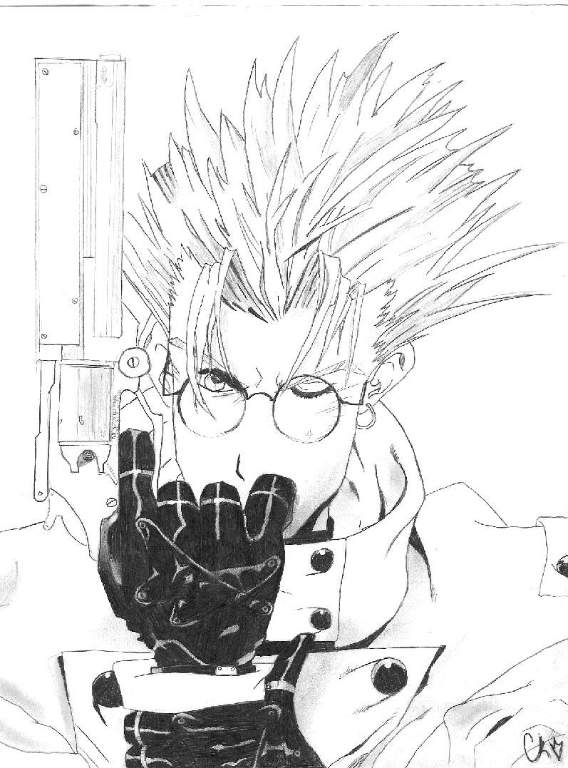 trigun coloring pages | Vash the Stampede drawing by harui on DeviantArt