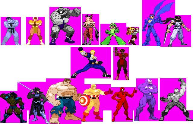 Marvel Vs Capcom 1 Sprites Palettes By Caliburwarrior On