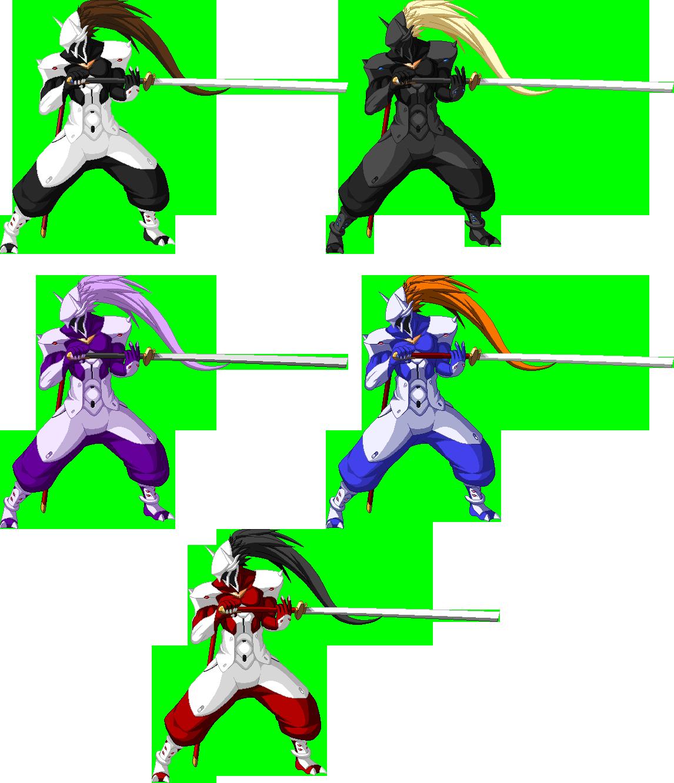 Hakumen Sprite With Ninja Gaiden Palettes By