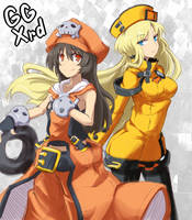 GGXrd May and Millia Rage art by CaliburWarrior