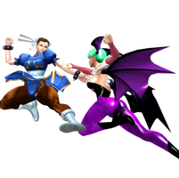 Capcom All-Stars - Chun-Li Vs Morrigan by CaliburWarrior