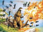 Changelings and Meganula vs Godzilla