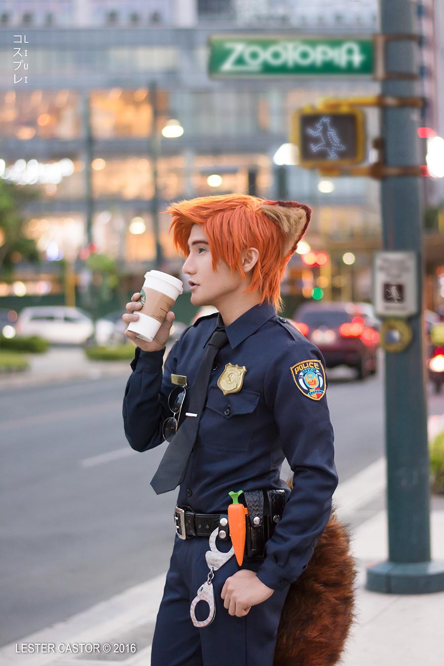Officer Nick Wilde Coslay - ZOOTOPIA by liui-aquino