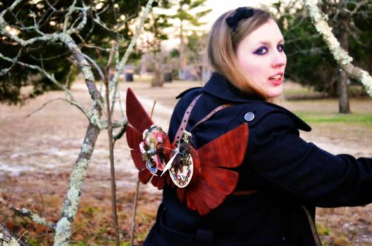 Wooden Steampunk Wings- Wonderland