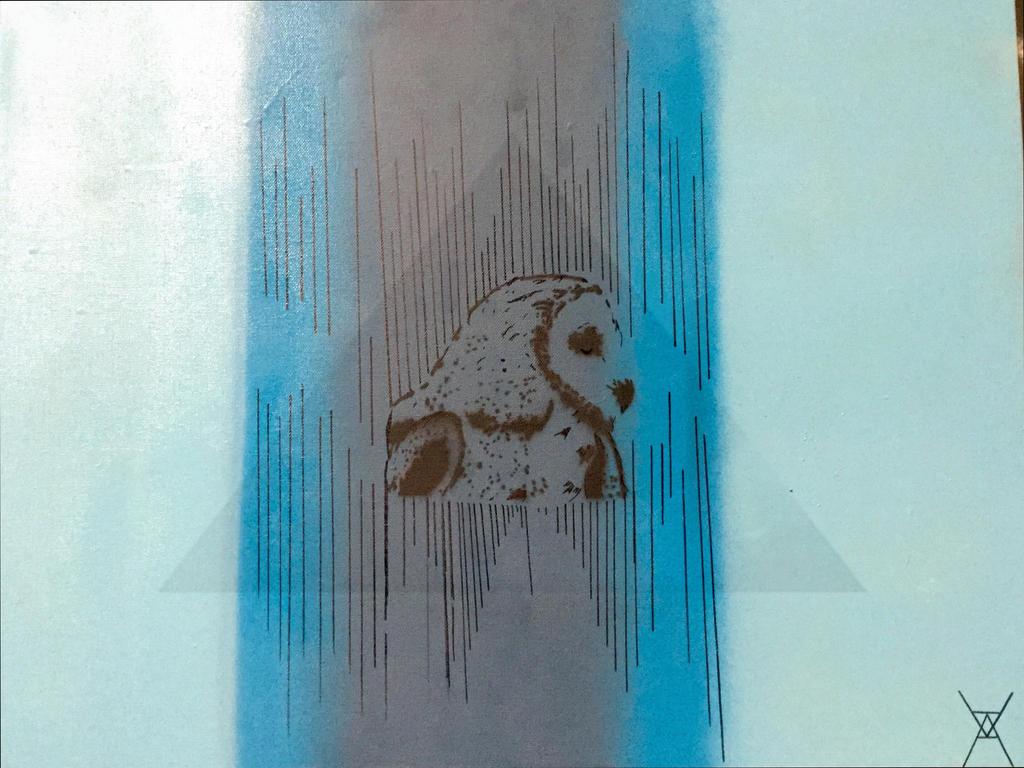 Barn owl art by djagenta