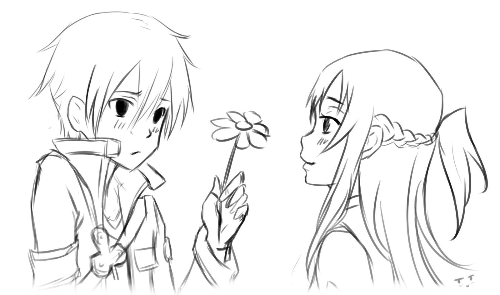 Asuna And Kirito By AnastasiaZhamoitina On DeviantArt
