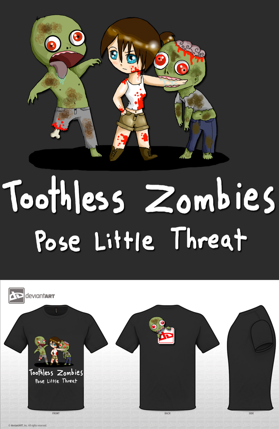 Toothless Zombies by TalkingToMySoul