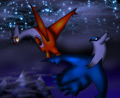 Latios and Latias-Bro and Sis by spdy4