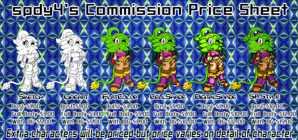 Commission Price Sheet by spdy4