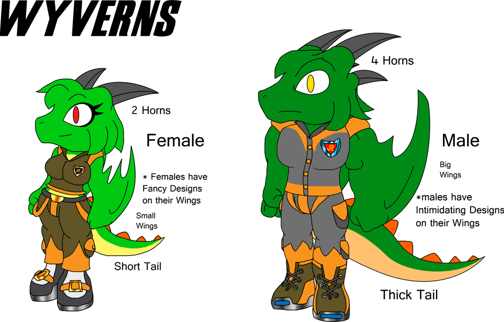 The Dragons of Arrow's World -Wyverns- by spdy4 on DeviantArt