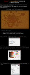 TUTORIAL - How To Make Bloody Parchment in GIMP 2 by BloodguardStock