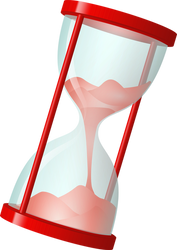 STOCK - Red Hourglass PNG by BloodguardStock