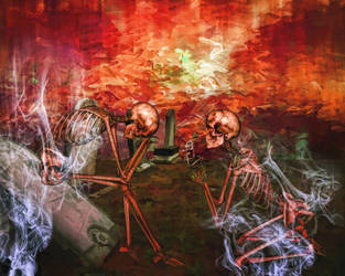 STOCK - Red Skeletons Background by BloodguardStock
