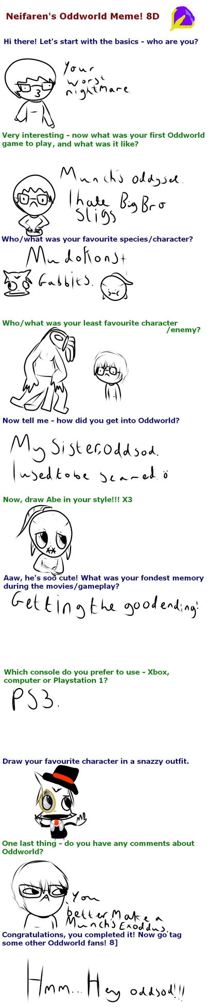 Yay, An Oddworld Meme! :D by Chickenfluffle