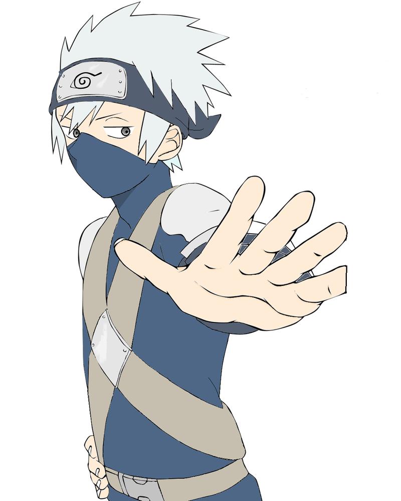Kakashi boy (line art) by The---Warden