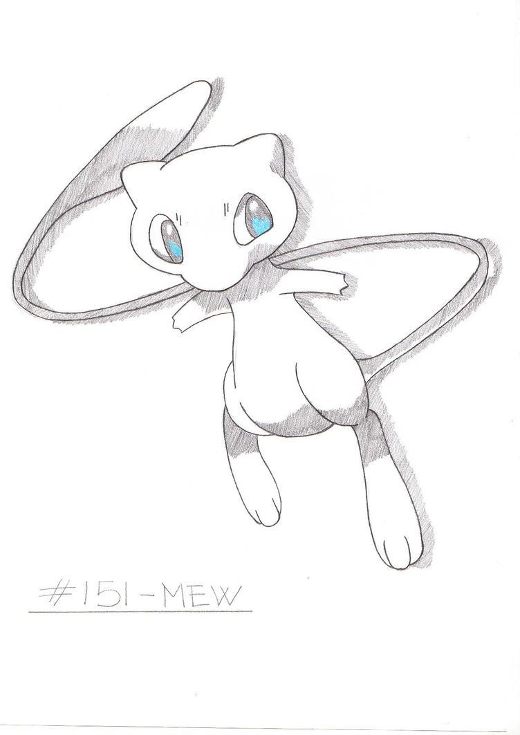 how to draw mew ex
