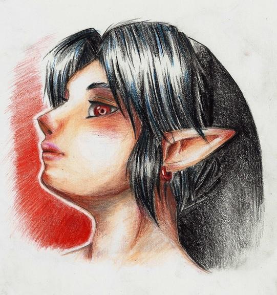 Dark Link portrait by Zeliga