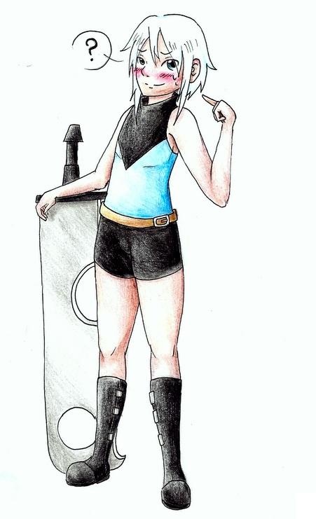 Sora genderbent by Zeliga