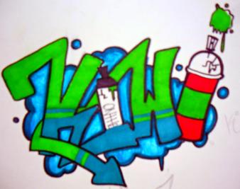 Kiwi Graffiti. by SpookyKiwi
