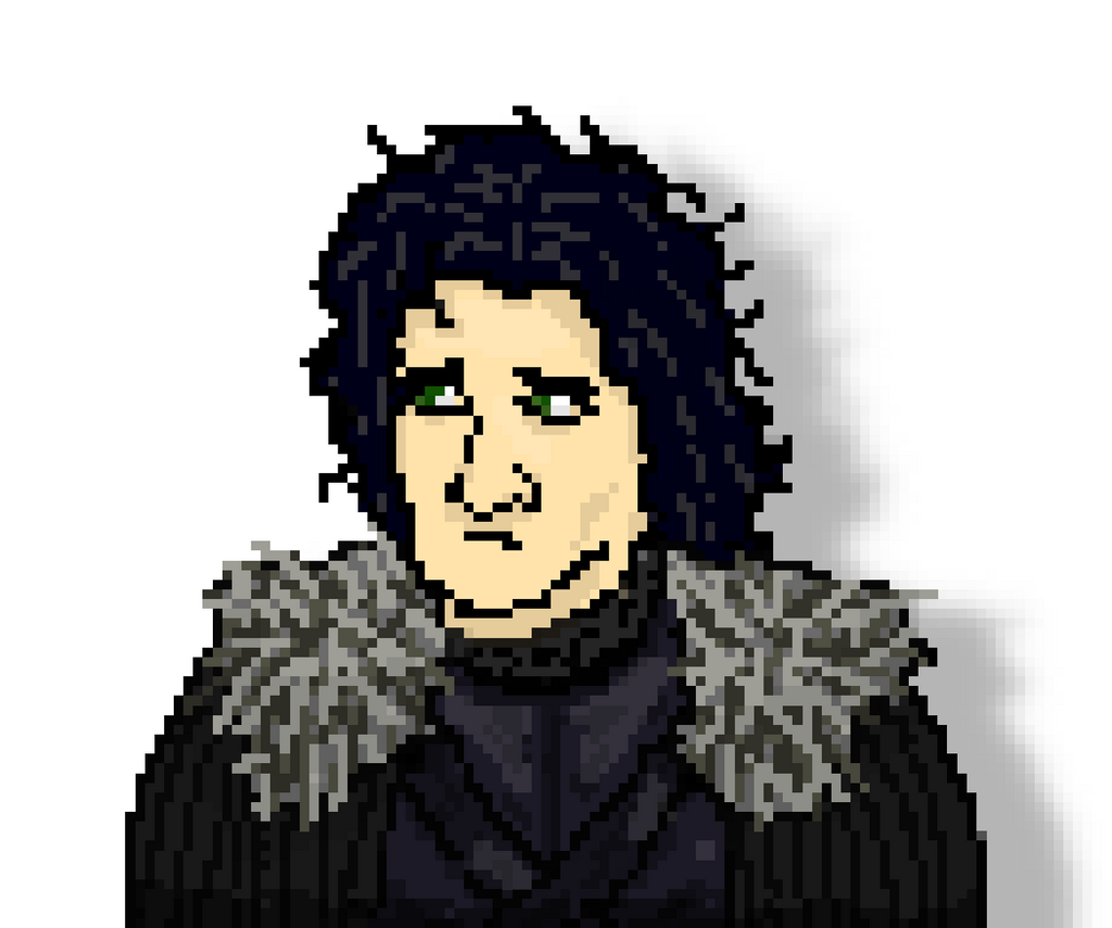 Jon Snow Pixel Art by onlo