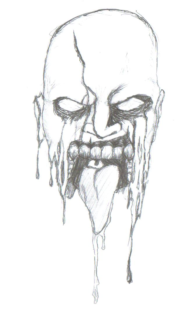 Zombie Face Line Drawing : Zombie face sketch pixshark images galleries