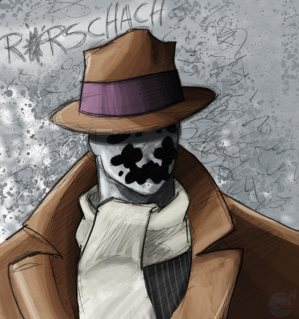 Rorschach Sketch by ellensama
