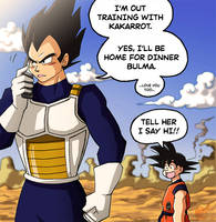 Vegeta Phone Call by ellensama