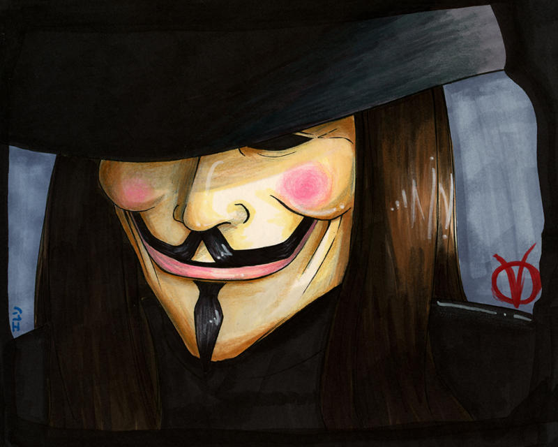 V for Vendetta by ellensama